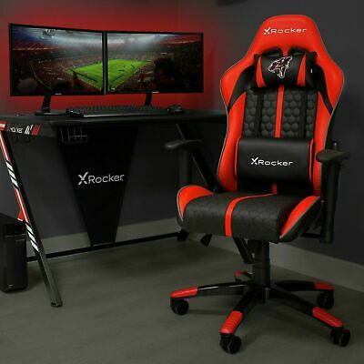 AU149.42 • Buy Arteon X Rocker Faux Leather Junior Gaming Chair - Red-GO111.