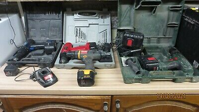 Job Lot Of Battery Drills (Bosch, Ryobi, Power Devil And Newtool) Spares Or Rep • 10£