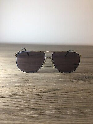 Vintage 70s Lacoste Sunglasses Racing BLUE Mod 101 Size 60-17 Made In France • 35£