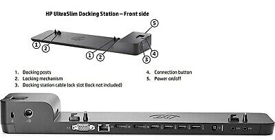 AU75 • Buy HP UltraSlim Docking Station - Black (D9Y32AA)