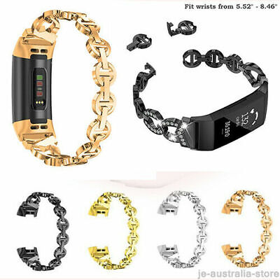 AU16.99 • Buy For Fitbit Charge 2 3 4 Gen / HR Women's  Watch Band Strap Metal Wrist Band