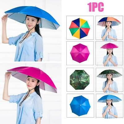 AU12.61 • Buy Portable Party Hands Free Travel Umbrella Hat Outdoor Fishing Folding Headwear