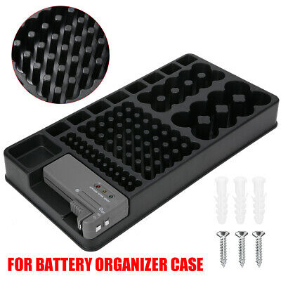 AU16.99 • Buy AA AAA D Battery Storage Organizer Case With Removable Tester Wall Mount Holder