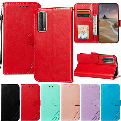 AU10.89 • Buy Three Bars Wallet Leather Flip Case Cover For Huawei Y5p P Smart 2021 P40 Lite