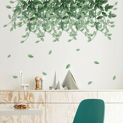 Removable Wall Stickers Tropical Plant Leaves Pattern Home Room Wall Decal • 6.70£