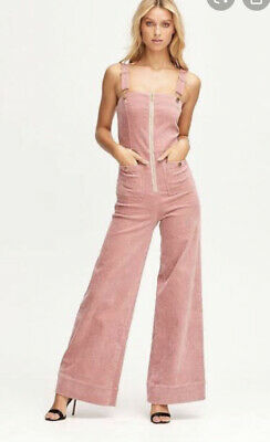 AU150 • Buy BNWT Alice McCall Quincy Jumpsuit - Pink Suede - Size 4