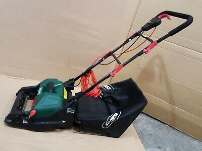 Qualcast Electric Cylinder Lawnmower Corded 400W - Used- Compact Folding Mower.  • 7.51£