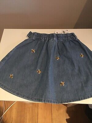 NExt New With Tags Bumble Bee Denim Skirt Age 2-3 • 5£