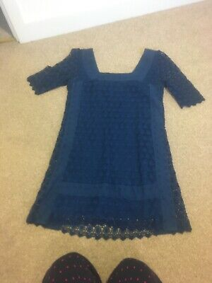 M S Limited Collection Dress Teal Lace 8 • 1.20£
