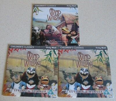 The Wind In The Willows - 3 Daily Mail Promo DVD's(Free UK Post) • 5.99£