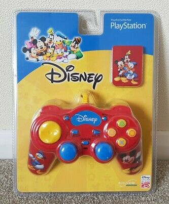 DISNEY Mickey Mouse Controller & Memory Card - UK Pal - NEW & SEALED - Sony PS1 • 9.95£