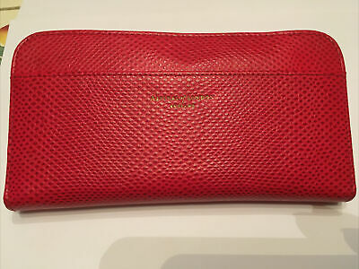 Aspinal Of London Red Leather Continental Zipped Purse • 0.99£