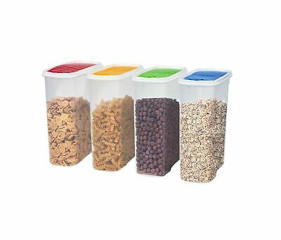 £12.99 • Buy Set Of 4 Cereal Containers Dispenser Airtight Food Storage Kitchen Accessories