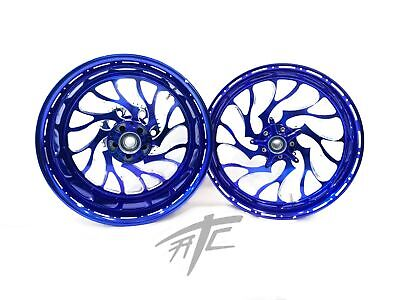 $2399.99 • Buy Gsxr Stock Size Royal Blue Contrast Hellian Wheels 01-08 Suzuki Gsxr 1000