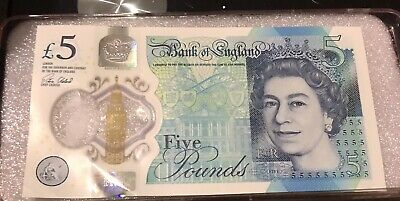 AA01 Five Pound £5 Very Low Serial Number AA01 014462 Polymer Note Rare • 20£