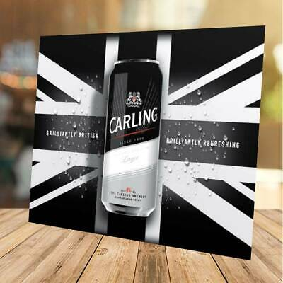 Three New Style M19 Edition CARLING Lager Beer Pint Glasses NEW Home Bar Pub