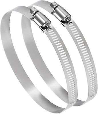 100mm Pack Of 2 Adjustable 90-110mm Stainless Steel Pipe Clamp Secure Hose Clip • 4.49£