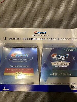 AU60.13 • Buy Crest 1 Hour Express 3D Teeth Whitening Strips Kit - 2pack