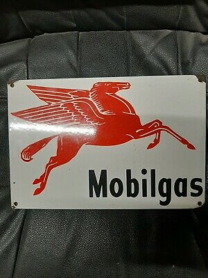 $ CDN12.65 • Buy Vintage Mobilgas  Heavy Porcelain Sign 8  X12  Collector Awesome Look.