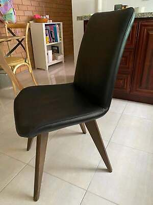 AU100 • Buy Rice Furniture Genuine Italian Dinning / Office Leather Chair RRP499 AS NEW
