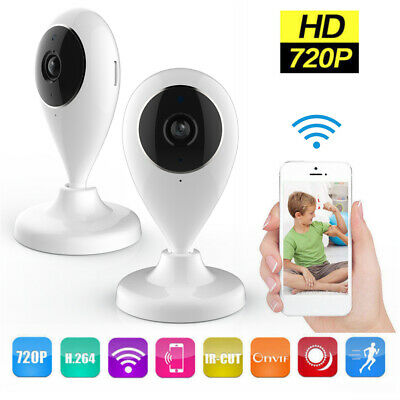 720P Wireless IP Security Camera WiFi Home CCTV System Network Pet Baby Monitor • 37.79£
