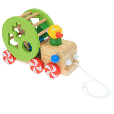 Wooden Pull Toy Push And Pull Duck Pull Along Walking Toy For Baby Toddler • 15.87£