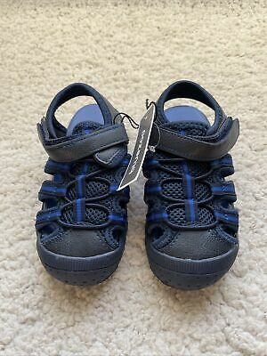 Blue Zoo Debenhams Boys Sandals Size 8 Eu 25 New Blue Rrp £20 • 7.99£
