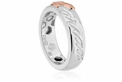 NEW Official Welsh Clogau Silver & Rose Gold Cariad Ring £30 Off! SIZE M • 89£