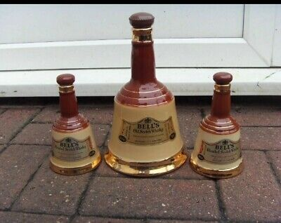 Wade Bells Scotch Whiskey Decanters X 3 • 19.99£