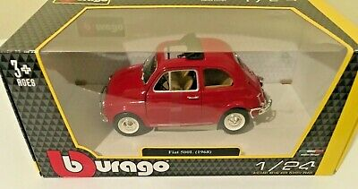 Fiat 500L 1968 Red 1-24 Scale Burago 22099 New In Box  Free UK Post • 21.95£