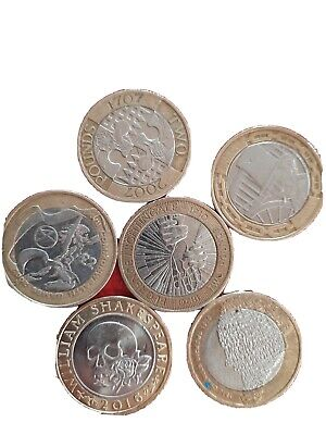 Rare 2 Pound Coin Job Lot • 10.50£