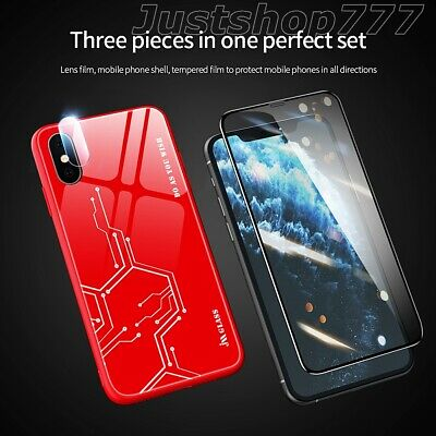 £5.95 • Buy Case For IPhone11 X XS XR 6Plus Glass Screen Lens Back Protectors Shockproof