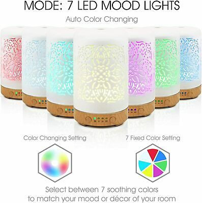 AU64.95 • Buy White Ceramic Essential Oil Diffuser Aromatherapy / Humidifier-Clean Air Device
