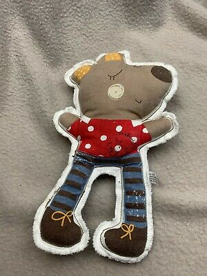 Mamas And Papas Special Delivery Dog Mouse Bear Rattle Flat Soft Toy Plush Comfo • 9.99£