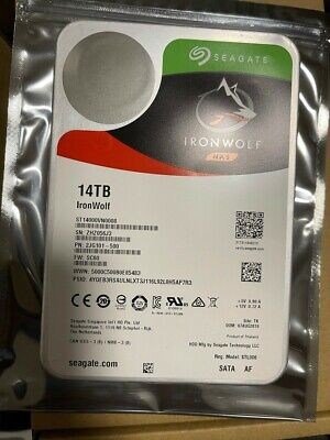 "View Details 6 X Seagate IronWolf 14TB,Internal, 7200 RPM,3.5"" (ST14000VN0008) Hard Drive • 1,650.00£"