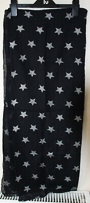 Black With Silver Stars Scarf • 2.50£