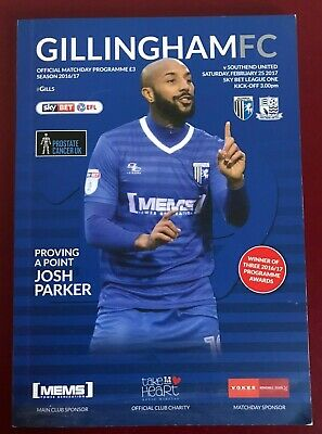 Gillingham V Southend United 16/17 Football Programme 25th February 2017 GFC • 1.15£