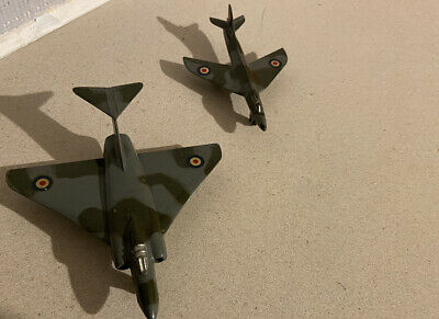 Dinky Toys #735 Gloster Javelin And #736 Hawker Hunter Military Aircraft. • 5.50£