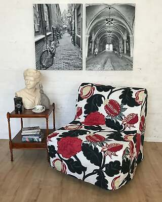 Slip Cover For Ikea Lycksele Chair Bed Bjork Floral Cotton Fabric • 65£