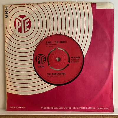 £4.40 • Buy The Honeycombs Have I The Right 1964 Original 7 45 Vinyl Single EX+