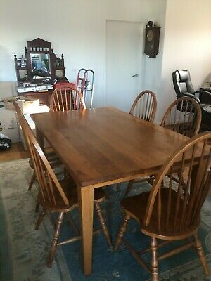 AU150 • Buy Tasmanian Oak Dining Table And 6 Chairs