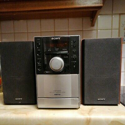 Sony Music Micro System CD Player Songs Radio Sound House Home Stereo Speaker • 15£