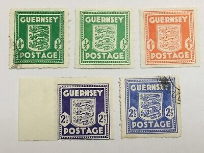 Old Stamps  GUERNSEY     X   5  German Occupation  • 2.04£