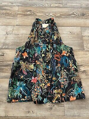 $ CDN31.56 • Buy Maeve Anthropologie Size XS Colorful Sleeveless Floral Blouse Top