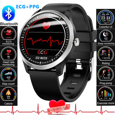 AU92.99 • Buy ECG Smart Watch Heart Rate Monitor Bluetooth Bracelet For Samsung IOS Android
