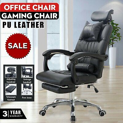 Office Chair Racing Gaming Swivel PU Leather Seat Computer Recliner Home Office • 89.59£