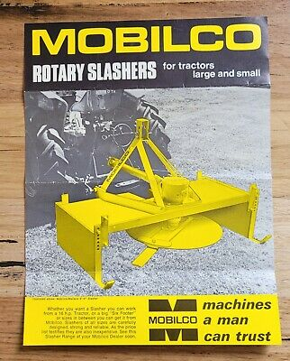 AU5 • Buy Advertisement Pamphlet For Mobilco  Rotary Slashers  For Tractors Large & Small