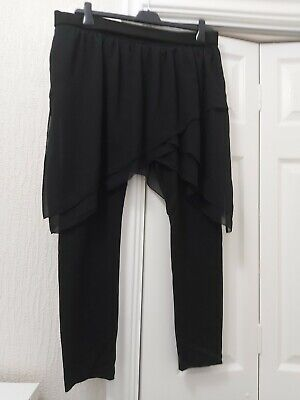 Ladies Zara Black Leggings With Attached Skirt • 3.20£