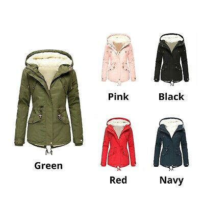 Ladies Winter Hood Parka Coat Jacket Women Warm Soft Fleece Lined Thick Outwear • 27.99£