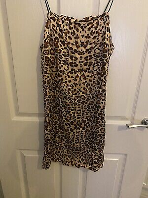 Topshop Size 8 Silky Animal Print Strappy Mini Dress. Worn Once. • 4£